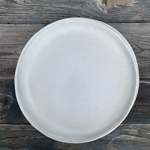"""The Rustic White 10.5"""" Dinner Plate"""