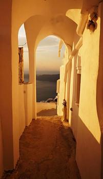Santornis: pakeliui į saulėlydį Imeroviglyje