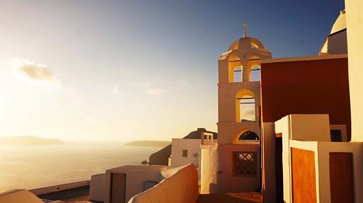 Romantiškoji Oia Santorini saloje