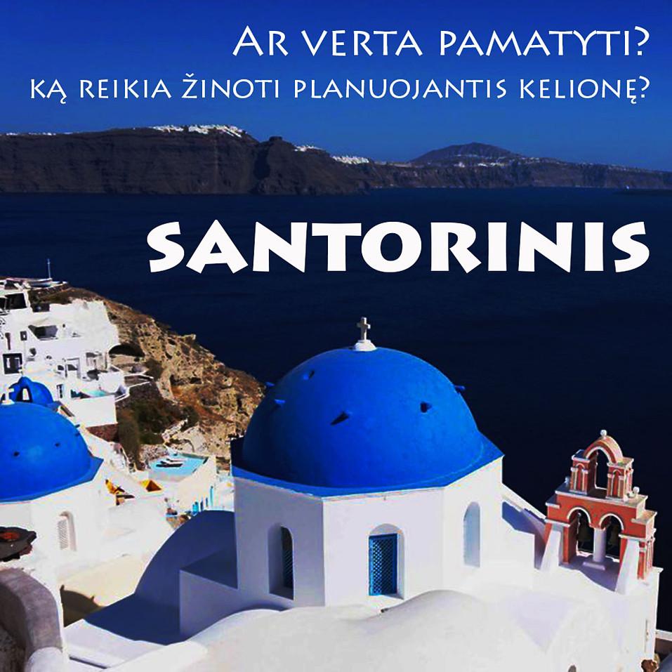 Santorinis Kikladžių salos Graikija