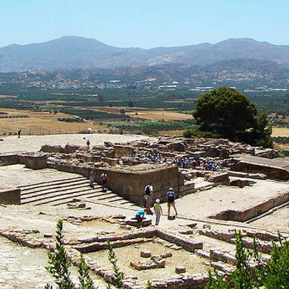 Festos diskas, Festos rūmai, Festos archeologinė vietovė