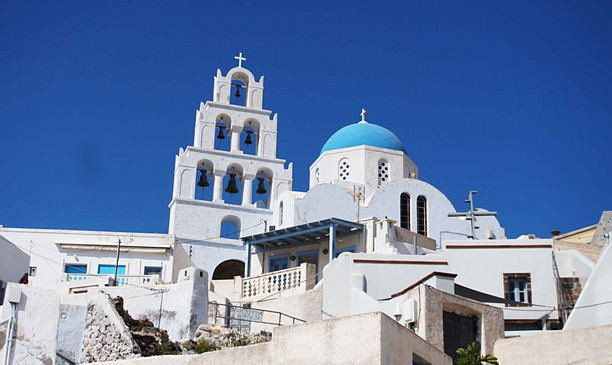 Santorinis, Pirgos. Agia Theodosia cerkvė