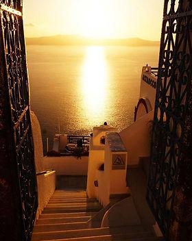 Santorini saulėlydis