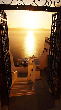 Santorinis: vartai į saulę