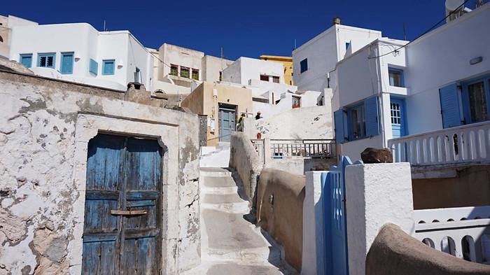 Santorinis. Pirgos miestelyje