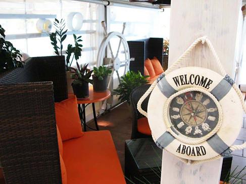 Jūrinė kavinė šalia Lentas paplūdimio