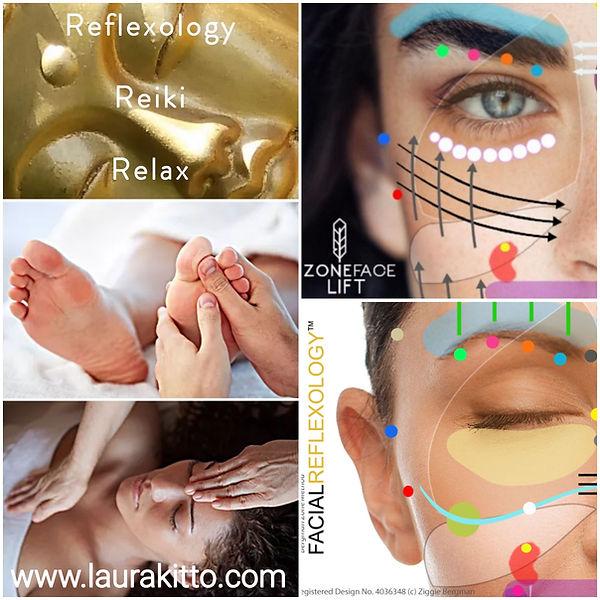 Treatments at LMK; Reflexology, Facial Reflexology, Zone Face Lift, Reiki, Cliffe Woods, Rohester, Kent