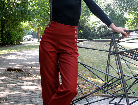 Hose Anna Wolle rot