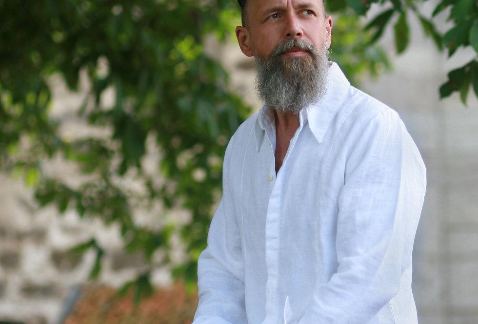 Malone Hemd Leinen weiß