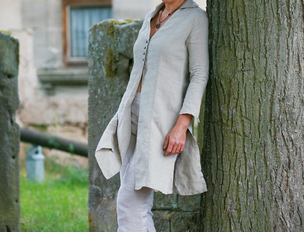 Annice Longbluse Leinen natur