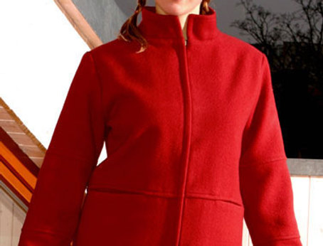 Jacke Cathrin Wolle rot