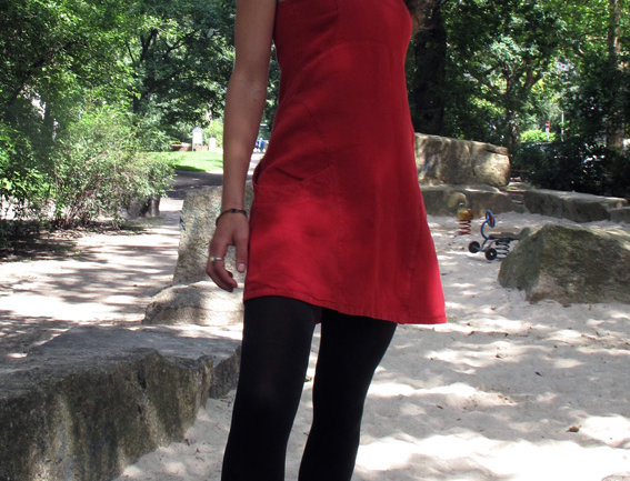 Barbarella Kleid Leinen rot