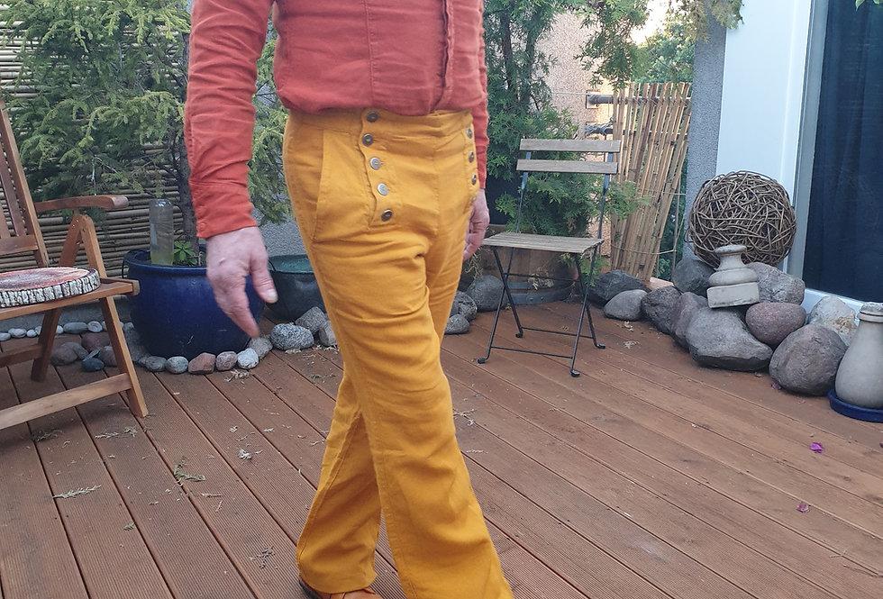 Flynn Hose Leinen gelb