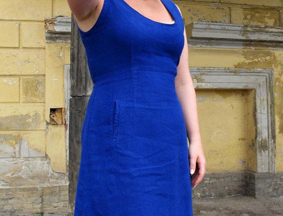Empire Minikleid blau