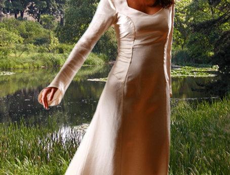Arabella Kleid Hanf-Seide natur