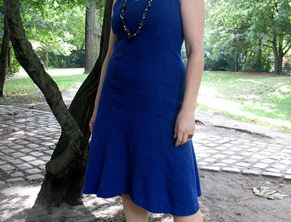 Viola Leinen blau