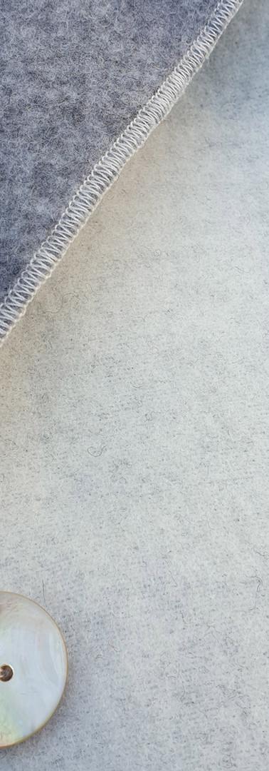 Doubleface wollweiss/grau