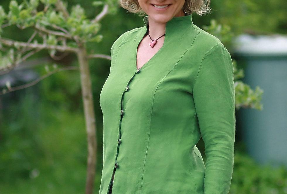 Dalia Bluse Leinen grün