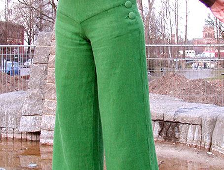 Marlene Hüfthose Leinen grün