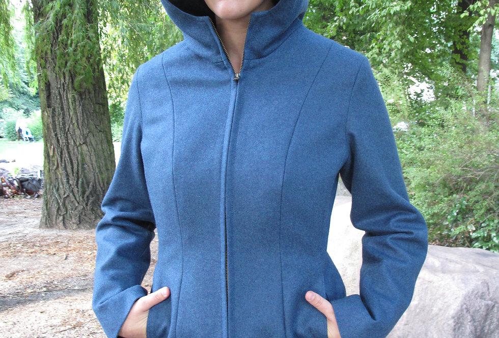 Fremen Mantel Wolle blau