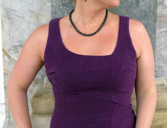 Spiral Kleid violett