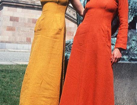 Maria Kleider gelb und orange