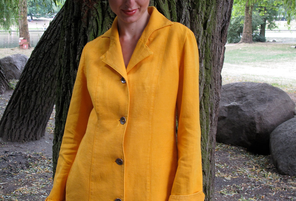Stella Jacke Panama-Hanf gelb