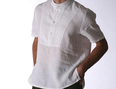 Sailor Hemd Leinen weiß