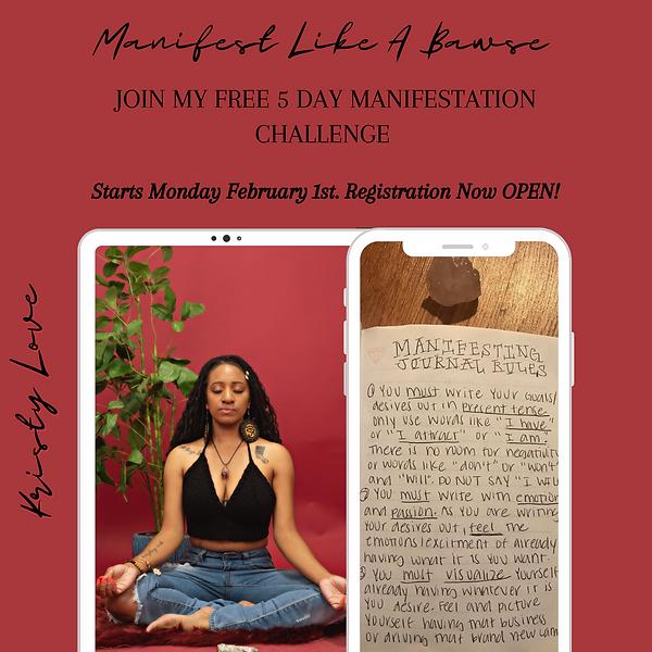 Join my Free 5 Day manifestation Challen