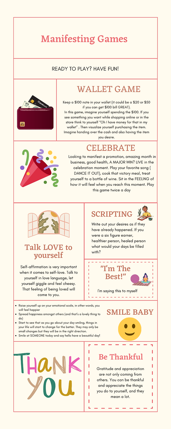 Cream and Red Self-Love Journey Infograp
