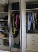 Inside view of wardrobes