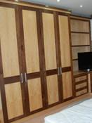 Walnut and maple bedroom
