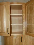 Bespoke oak curved kitchen