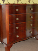 Solid oak curved drawers