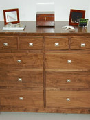 Traditional walnut chest of drawers