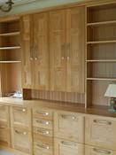 Solid oak home office