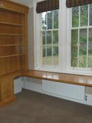 Traditional solid oak desk