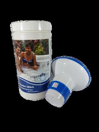 Aquasparkle Bromine Tablets 1kg Including Floating Tablet Dispenser