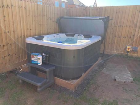 Vortex Spas Neon Hot Tub Installed In Worcester, Worcestershire.