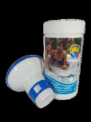 AquaSparkle Multifunctional Chlorine Tablets 50 x 20g Including Dispenser