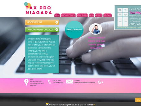 INTRODUCING THE BRAND NEW WWW.TAXPRONIAGARA.COM