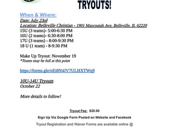 Check out our Tryout tab for more information
