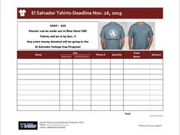 El Salvador tshirts...order TODAY!