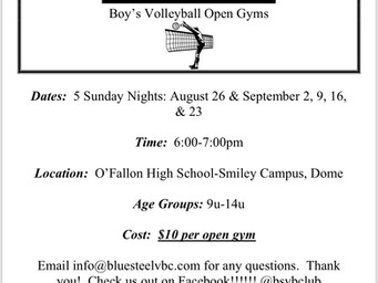 Boy's Volleyball Clinics are HERE!