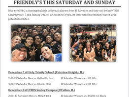 Schedule for this weekend!