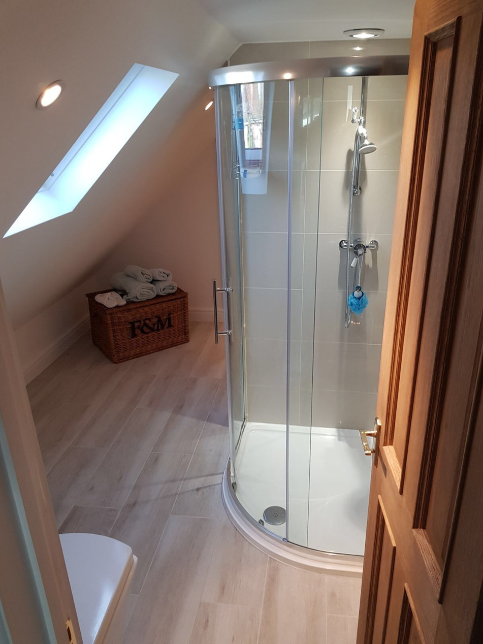 Shower room in Loft Conversion