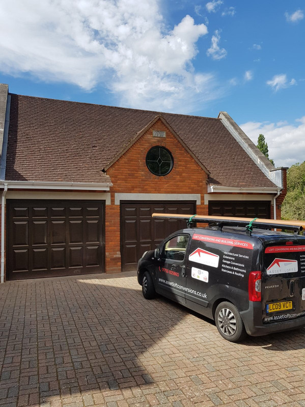 Garage with Extension