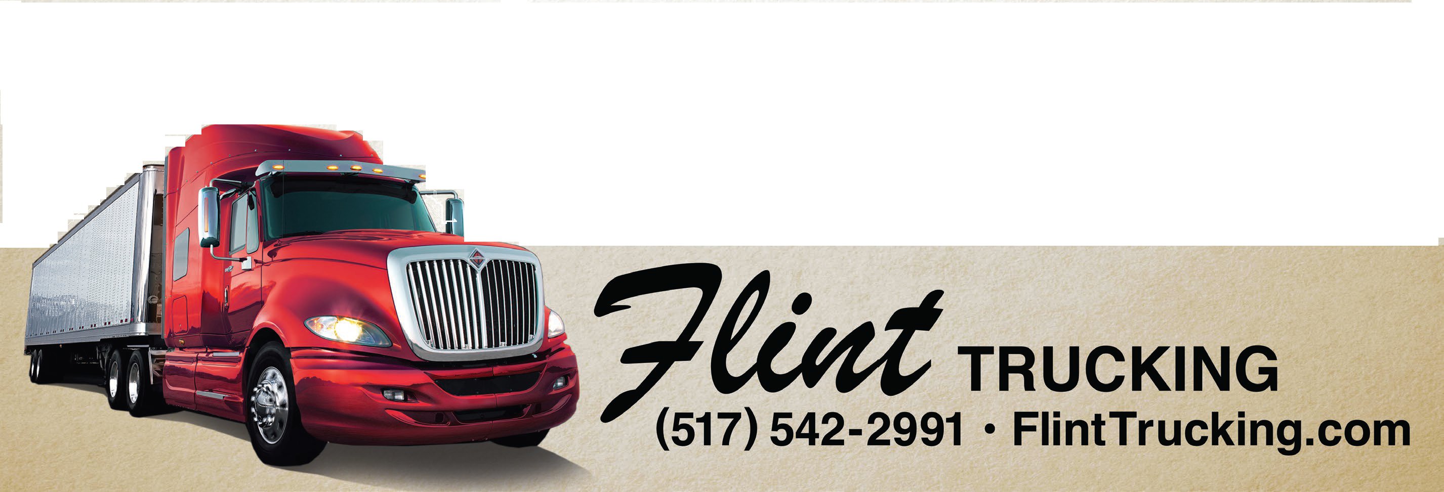 Flint Trucking Logo - Semi (2)