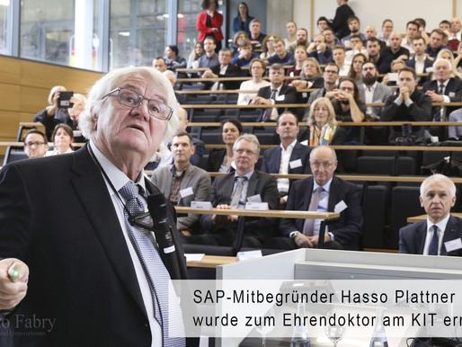 SAP-Mitbegründer Hasso Plattner wird Ehrendoktor