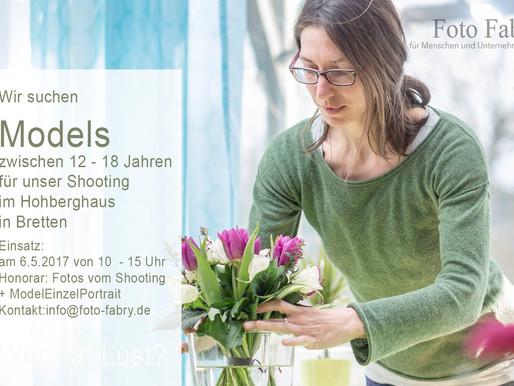 Models gesucht für unser Shooting            im Hohberghaus in Bretten